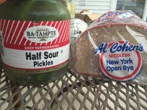 Rye bread from Buffalo; pickles from Brooklyn