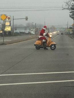 Santa's Vespa Lewisburg, PA